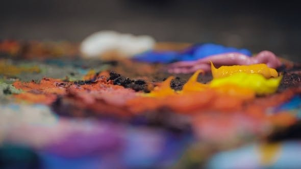 Thumbnail for Artists Oil Paints Multicolored  Abstract