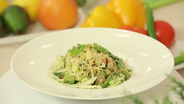 Thumbnail for Hot Vegetable Salad With Cheese