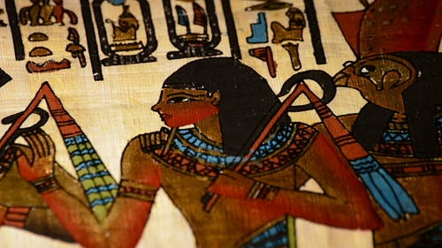 Ancient Egyptian Papyrus Rotating