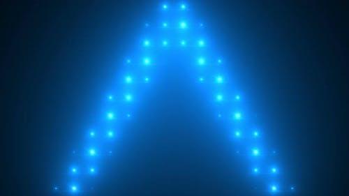 4K blue lights from above soft optical lens flares shiny animation art background animation