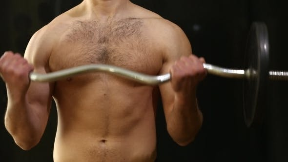 Thumbnail for Man Lifting Barbell Biceps Coaching