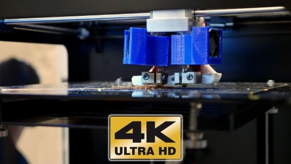 Thumbnail for Three Dimensional Plastic 3d Printer In Laboratory