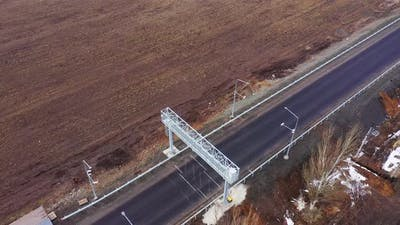 Aerial view. Automatic Vehicle weight control system