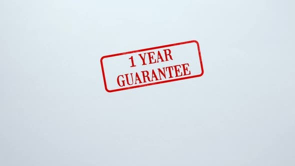 Thumbnail for 1 Year Guarantee Seal Stamped on Blank Paper Background, Product Quality
