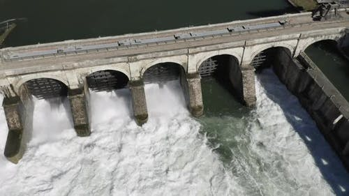 Dam River Aerial View