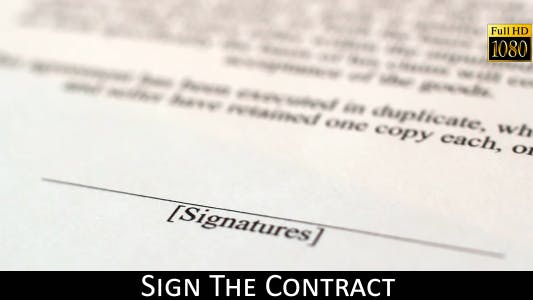 Thumbnail for Sign The Contract 4