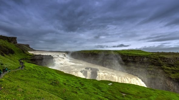 Thumbnail for Gullfoss, or Golden Falls - One of The Most Visited Waterfalls in Iceland
