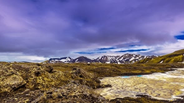 Thumbnail for Valley Landmannalaugar - a Unique Natural Flow Of Lava And Numerous Rhyolitic Tops