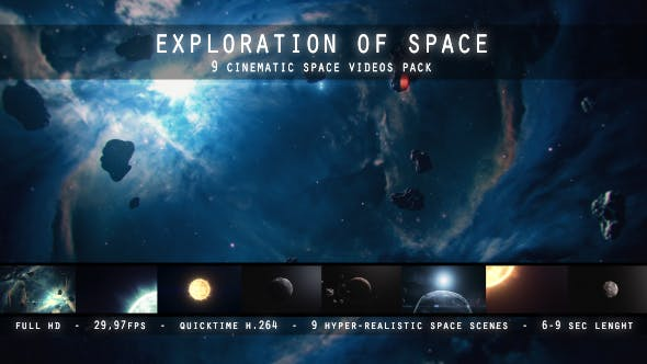 Thumbnail for Exploration of Space - 9 Space Videos