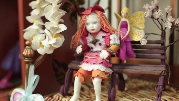 Thumbnail for Decorative Doll And Spring Flowers