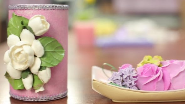 Thumbnail for Decorative Bowl And Other Items With Spring Flowers