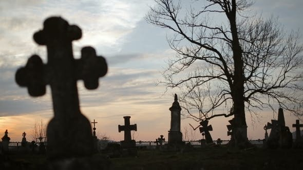 Thumbnail for Old Graveyard With Ancient Crosses 6