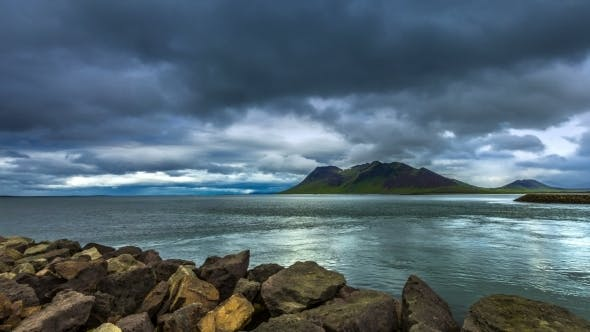 Cover Image for The Storm Clouds In The Strait The Atlantic Ocean in Iceland