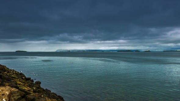 Thumbnail for The Storm Clouds In The Strait The Atlantic Ocean in Iceland