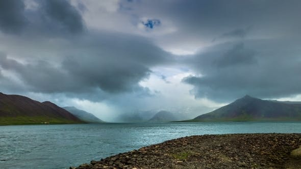 Thumbnail for The Storm Clouds Over The Mountains In The Strait The Atlantic Ocean
