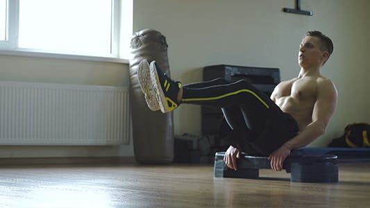 Thumbnail for Sportsman Doing Crunches For Abs