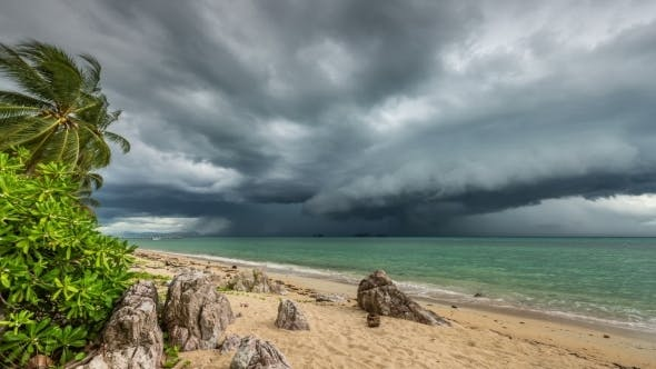 Thumbnail for Rapidly Looming Thunderstorm Storm On The Beach, Koh Samui, Thailand