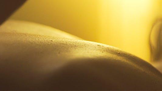 Massaging Oily Back Skin