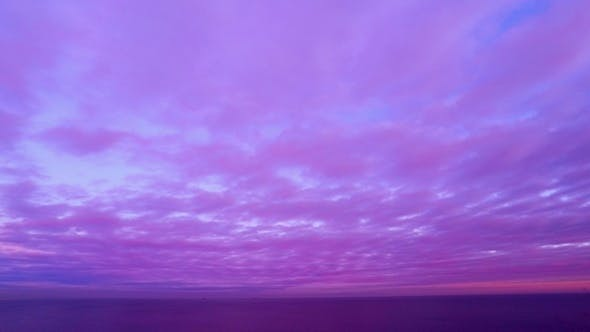 Thumbnail for Cloudy Sunset Sky over the Sea.