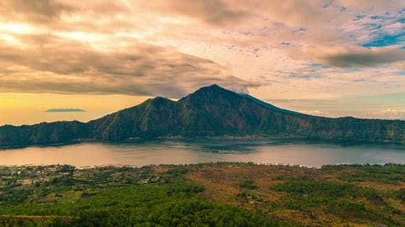 Cover Image for Panorama Of Lake Batur. 15 July 2015, Bali, Indonesia