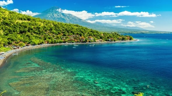 Thumbnail for Beautiful Beach Cove Jemeluk Bay in Bali, Indonesia