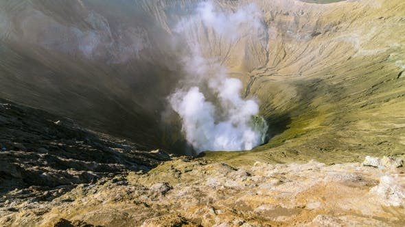 Cover Image for Caldera Active Volcano Bromo in East Java, Indonesia