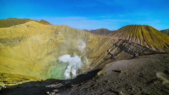 Cover Image for Active Volcano Crater Bromo. East Java, Indonesia