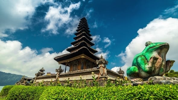 Thumbnail for Clouds Over The Temple Pura Ulun Danu Bratan in Bali, Indonesia