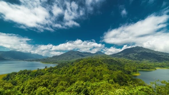 Cover Image for Panoramic View To Danau Tamblingan Lake And Danau Buyan