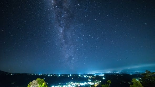 Thumbnail for The Milky Way With Clouds In a Mountainous Area in Bali, Indonesia