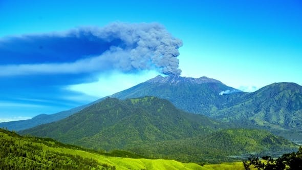 Thumbnail for Eruptions Raung Volcano, Panoramic View. East Java, Indonesia