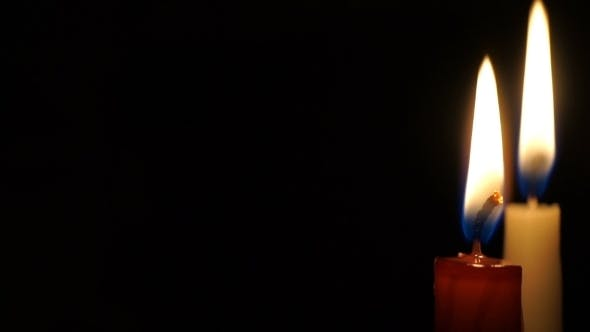 Thumbnail for Video Is Burning Candle Isolated On Black