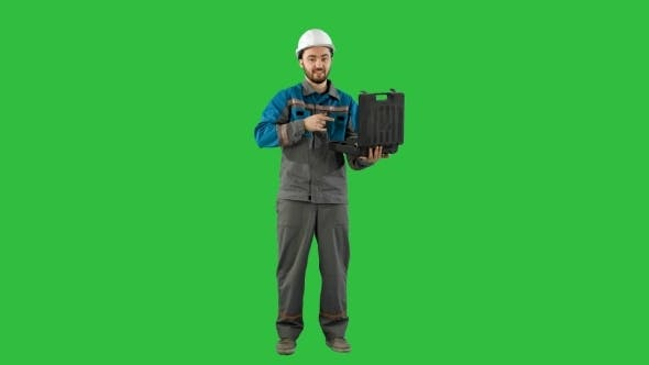 Thumbnail for Handyman Prepared For Any Eventuality Shows Tools On Camera