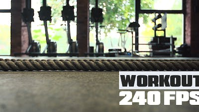 Crossfit Rope in a Gym