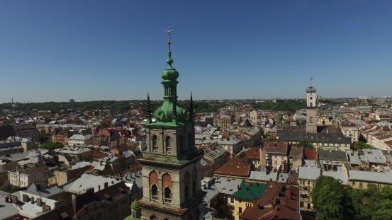 Thumbnail for Aerial Old City Lviv, Ukraine
