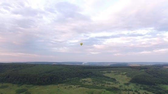 Thumbnail for Air Balloons Flying Over Valleys In Ukraine