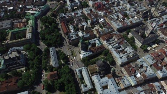 Thumbnail for Lviv Ukraine Cityhall Aerial View