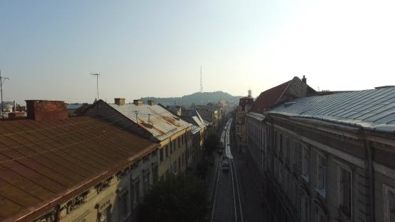 Thumbnail for Aerial Old City Lviv, Ukraine. Central Part Of Old City. European City. Densely Populated Areas