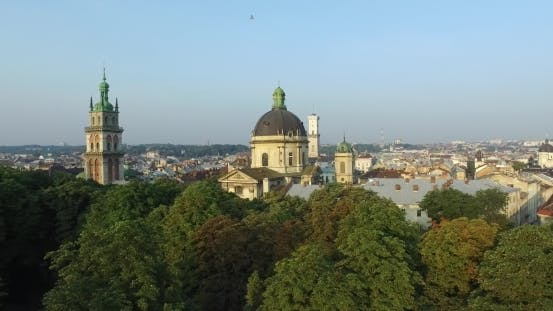 Thumbnail for Lviv Morning Roofs Aerial View, Ukraine Dominican