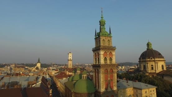 Thumbnail for Lviv Roofs And Streets Aerial View, Ukraine