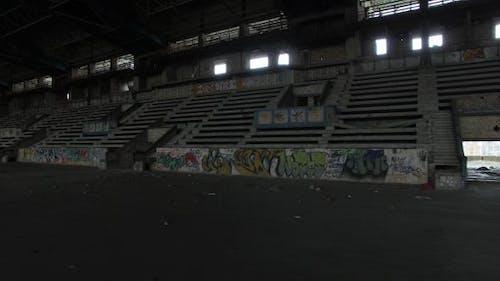 Abandoned Ice Arena And Tribune