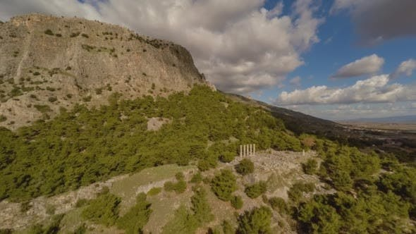 Thumbnail for Aerial View of Corinthian Columns in the Ancient