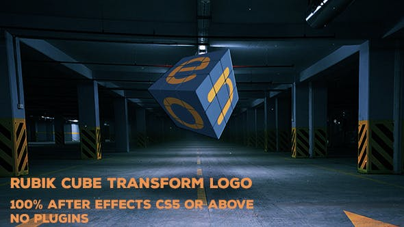 Thumbnail for Rubik Cube Transform Logo | After Effects Template
