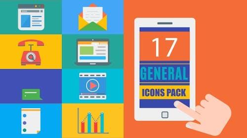 Pack de 17 Icones générales