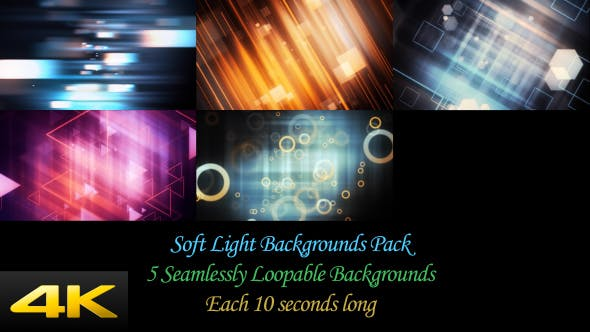 Thumbnail for Soft Light Backgrounds Pack
