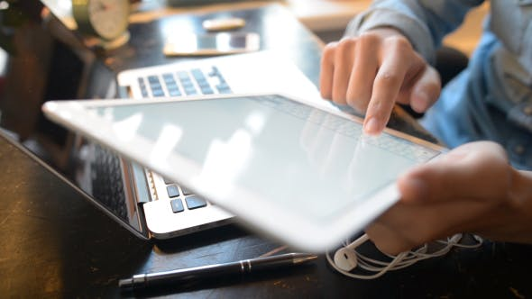 Cover Image for Typing on Tablet, Email, Communication