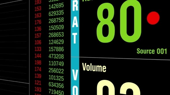 Thumbnail for Big Data Digital Display Analysis Graph And Values