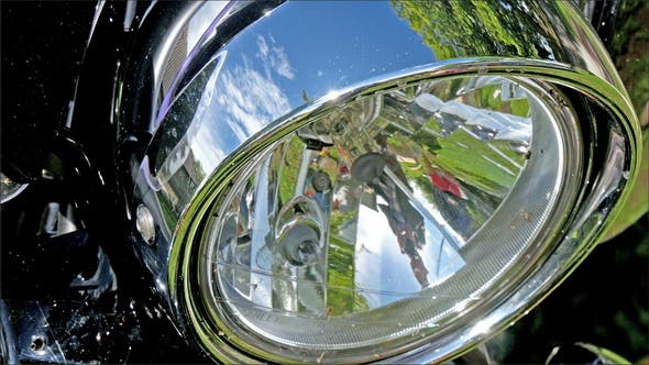 Thumbnail for The Silver Headlight From the Motorbike
