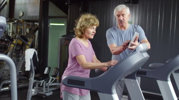 Thumbnail for Two Pensioners in Gym