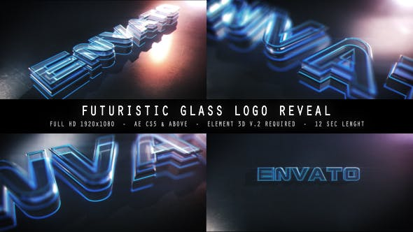 Thumbnail for Futuristic Glass Logo Reveal